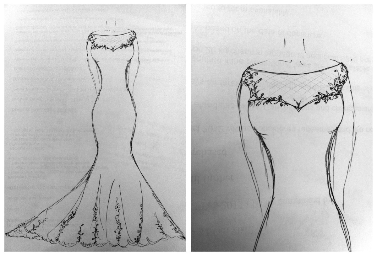 Wedding Dress Sketch My Big Day On A Dime